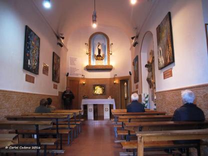 Interior de la ermita del Carmel en la actualidad.Foto de Carles Cadena.