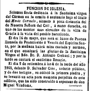 La Corona (Barcelona. 1857). 3:5:1864,